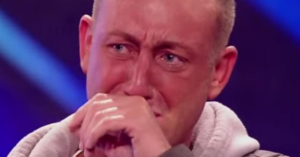 A nervous 34-year-old couldn't stop shaking, but watch him give respect to his grandmother and bring the judges to tears