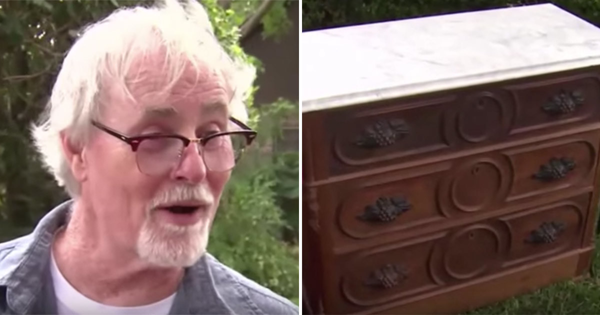 He bought a 125 year old desk in a market, and then discovered it had a secret compartment...