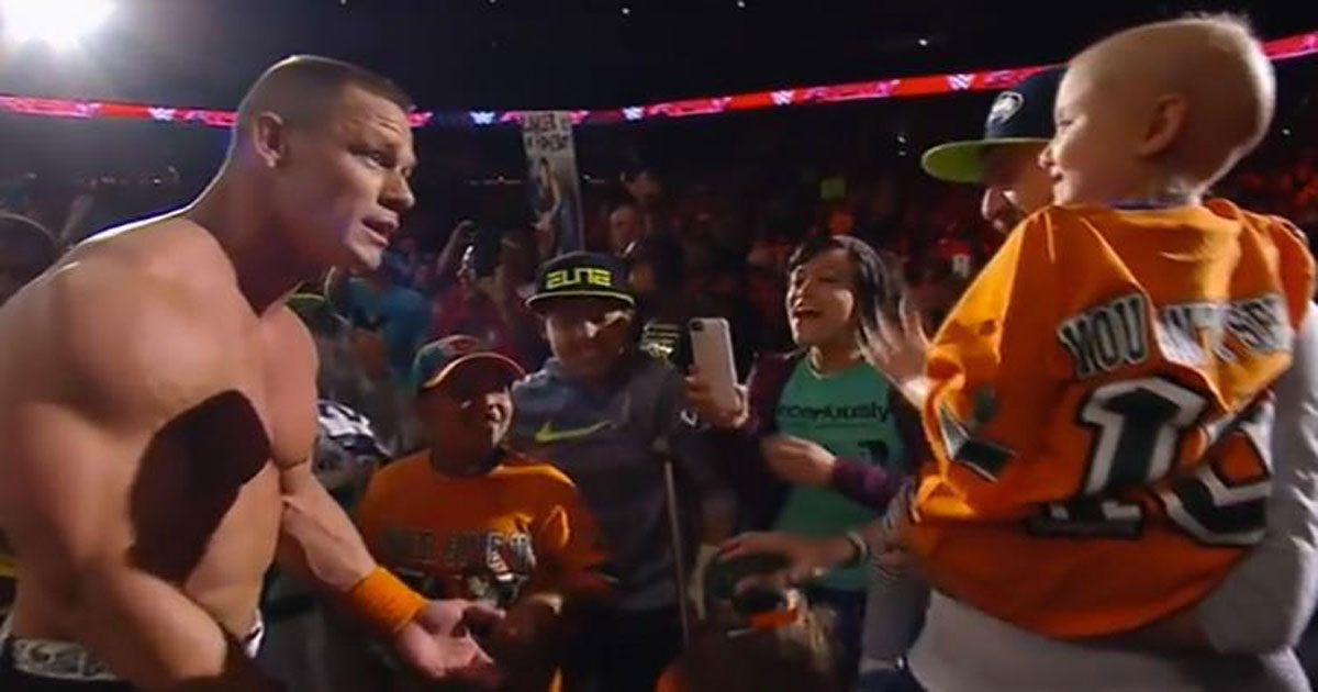 WWE superstar suddenly stopped a fight, and made huge honor to a 7-year-old cancer survivor who was in the audience