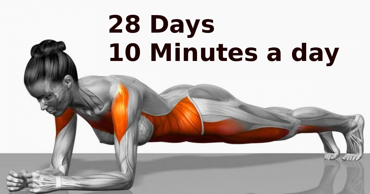 These 7 simple exercises will completely change your body in just 4 weeks!