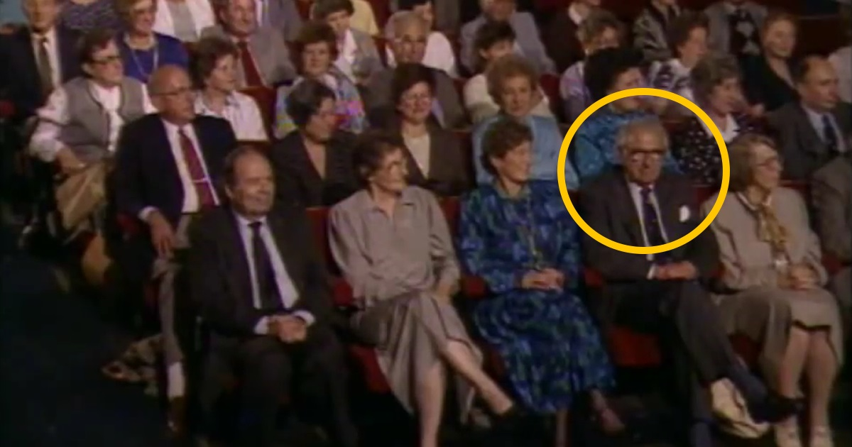 A man who saved 669 kids during world war II didn't know they were sitting next to him. Watch his reaction..