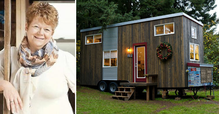 A poor single mother built herself a 19-square-meter house - one look inside, and you'll want to live there today!
