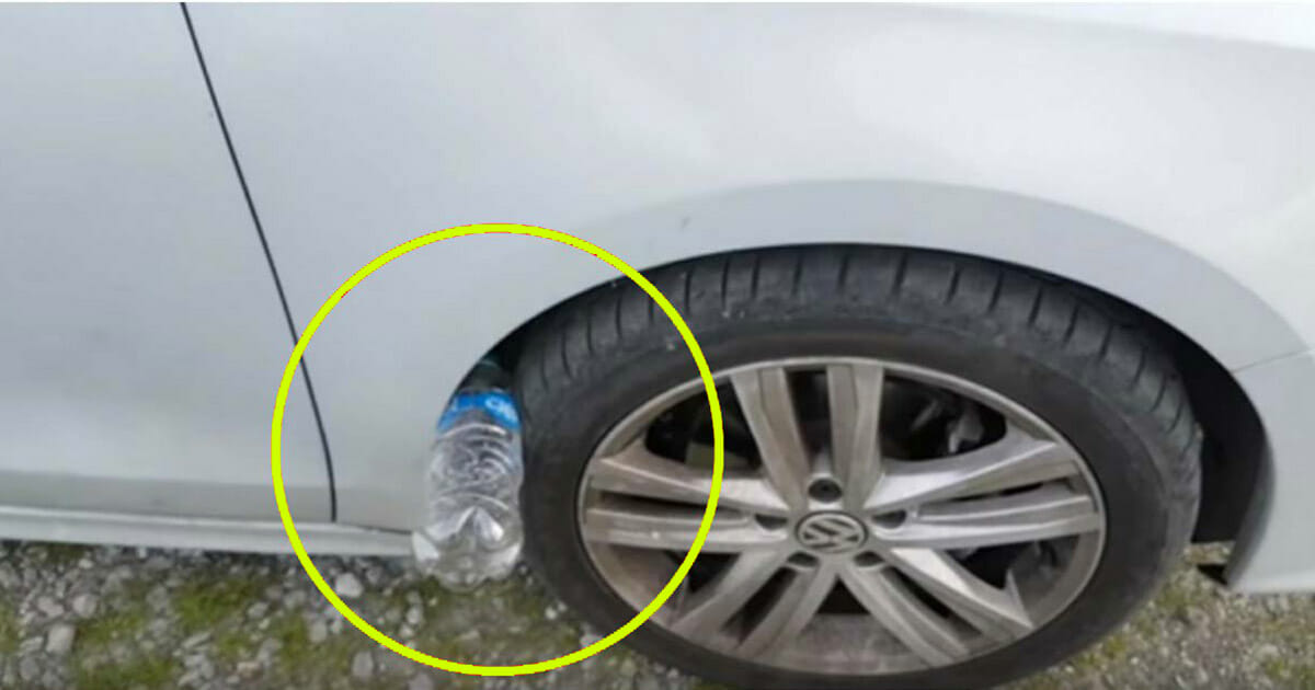Warning about a new trick: If you see a plastic bottle on your vehicle tire, you may be in danger