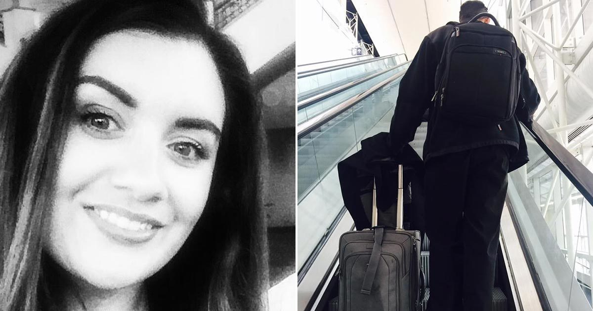 This woman was about to board a flight - but then she saw a stranger and realized something was wrong ..