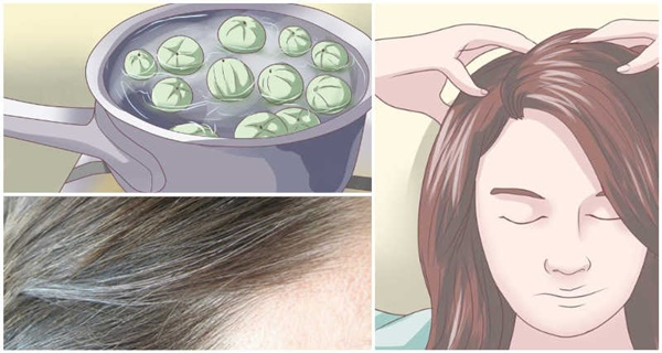 Bye bye white hair! Leave this on the hair for 5 minutes and get rid of gray hairs forever!