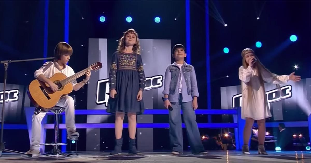 Four children performed a classic Leonard Cohen song so perfectly, that the entire audience got chills