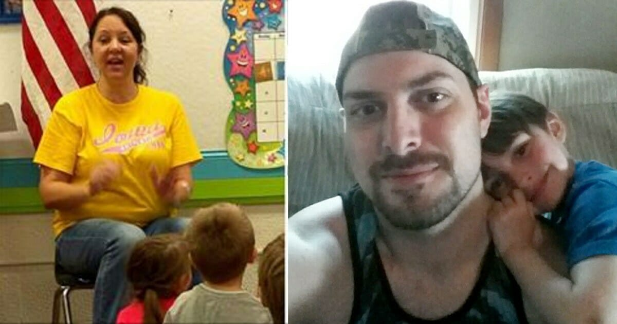 A 4 year-old child revealed his father's big secret in kindergarten, so the teacher ran to the phone and demanded answers