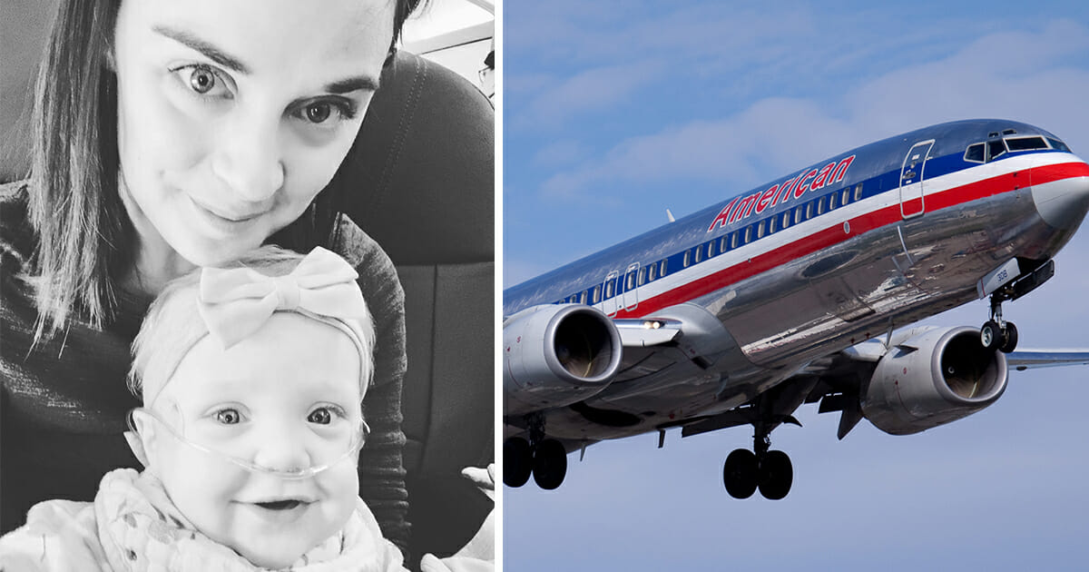 Mother boarded a flight with an 11-month-old baby when a stranger noticed her, gave up his first class seat, and left her with tears