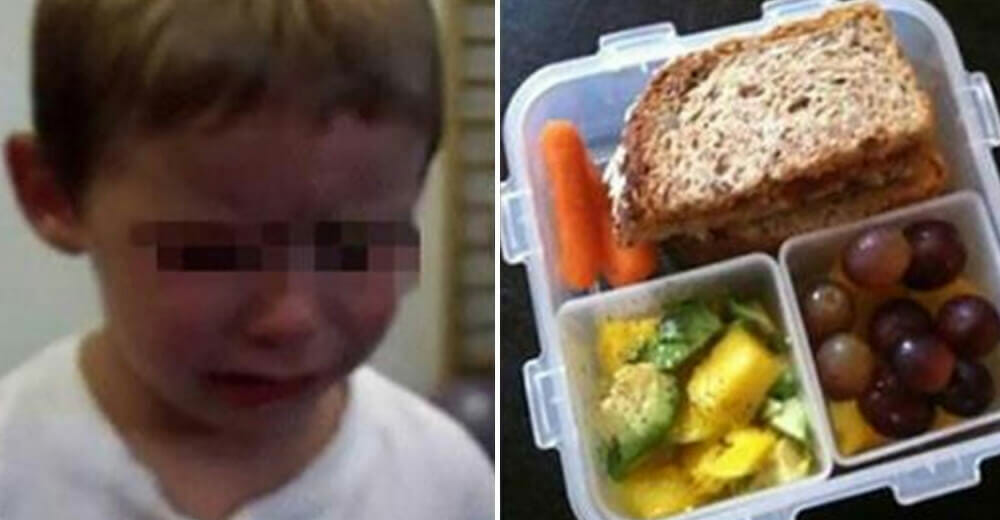 4-year-old boy was left with tears in his eyes after a teacher threw away his food, saying he should not eat it in school