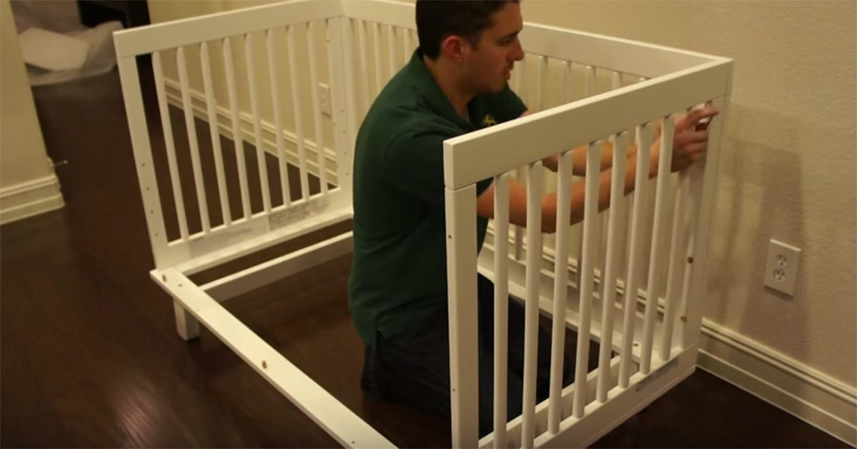 The father refused to sell their old baby crib. So what did he do with it? Simply ingenious!