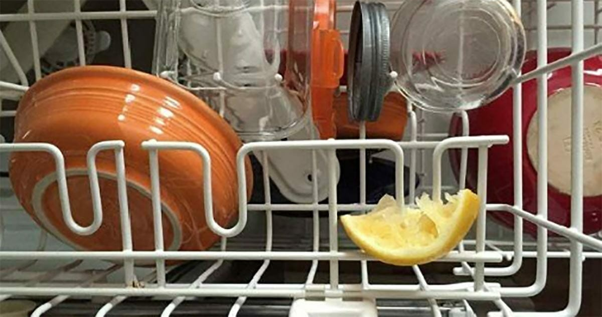 That's what happen when you put half a lemon in the dishwasher - the reason is driving people all over the world crazy