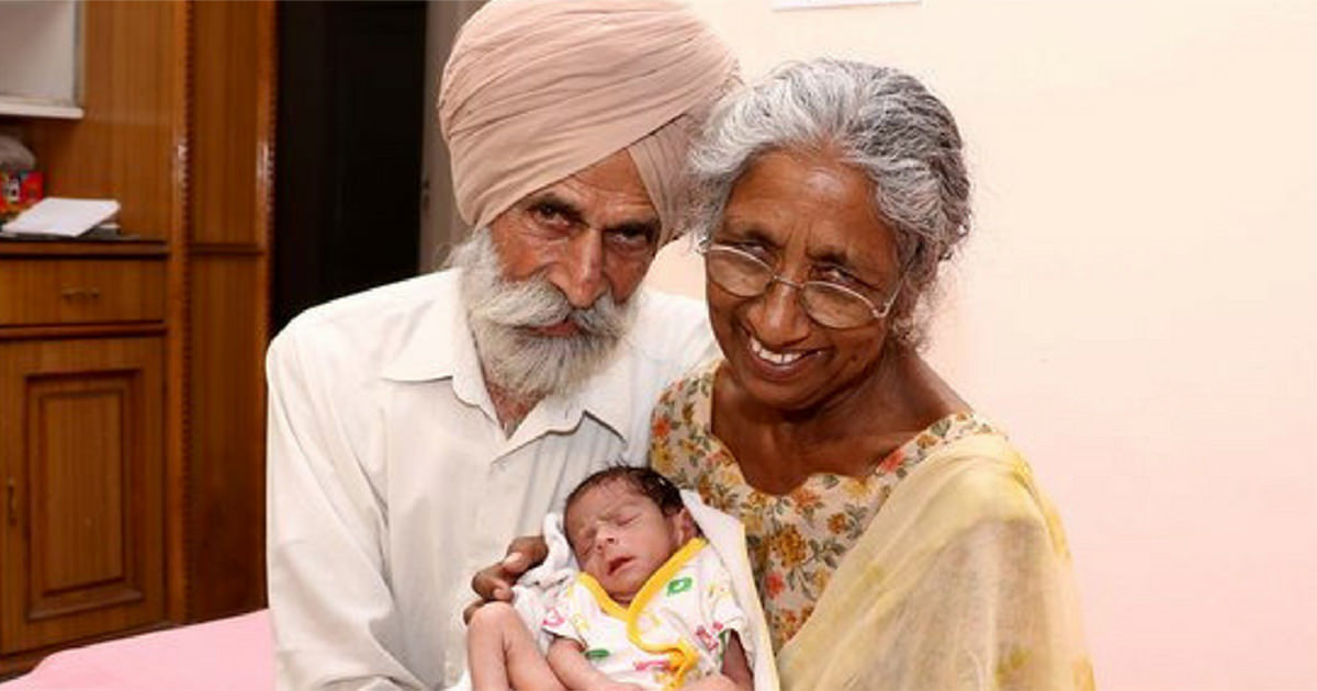 A 72 year old woman got pregnant - now look at her child 11 months later
