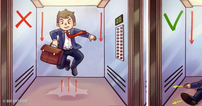 If you find yourself in a free falling elevator, this is what you need to do to get out alive
