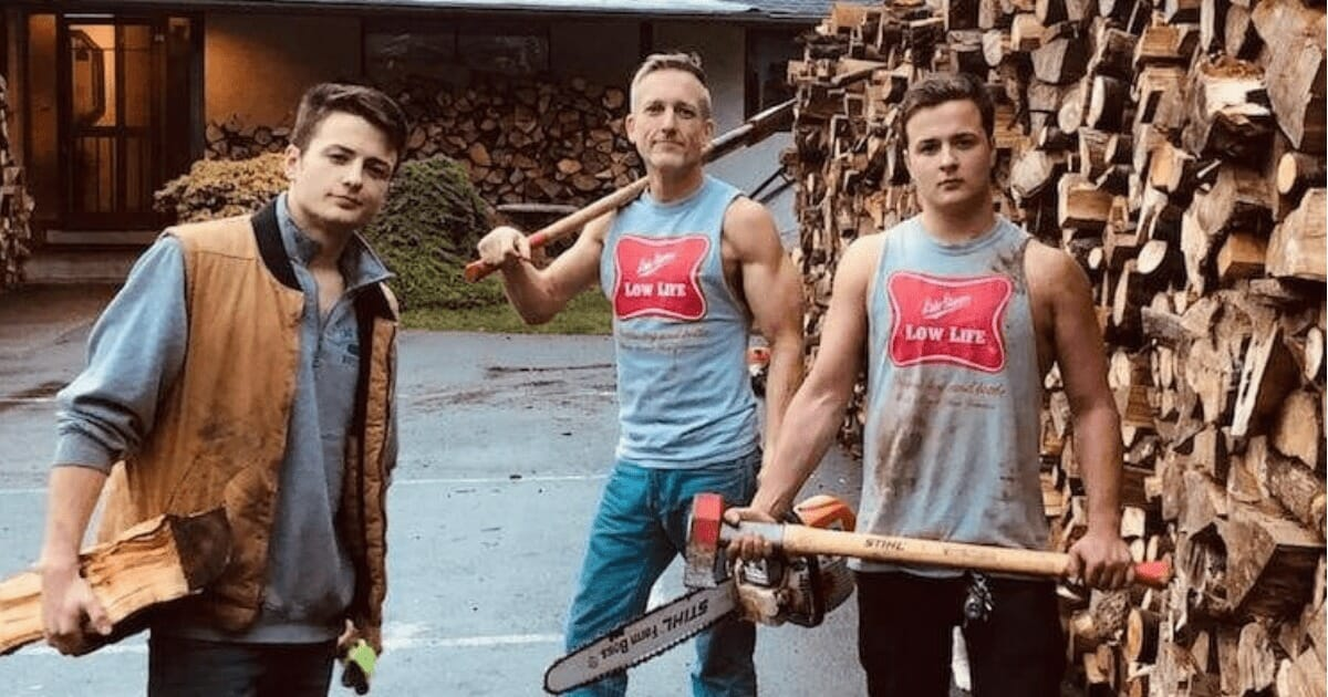 Father and his two twin sons cut enough firewood to fill 80 trucks. Nobody could guess this is what they will do with it..