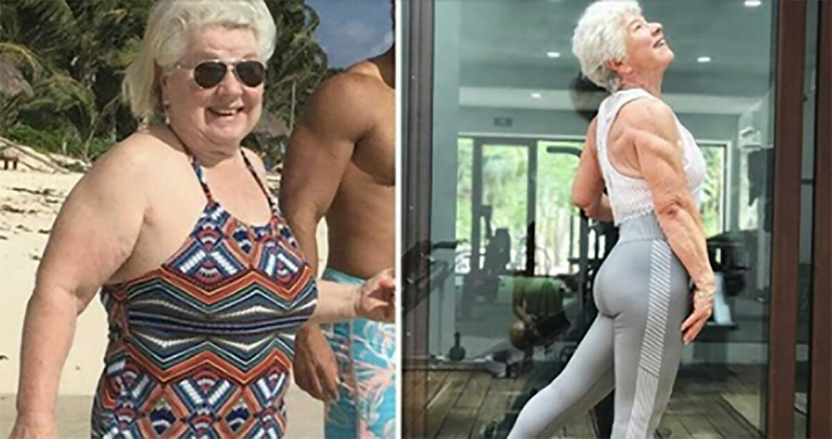 73-year-old grandmother undergone an amazing makeover, gaining hundreds of thousands of followers from over the world