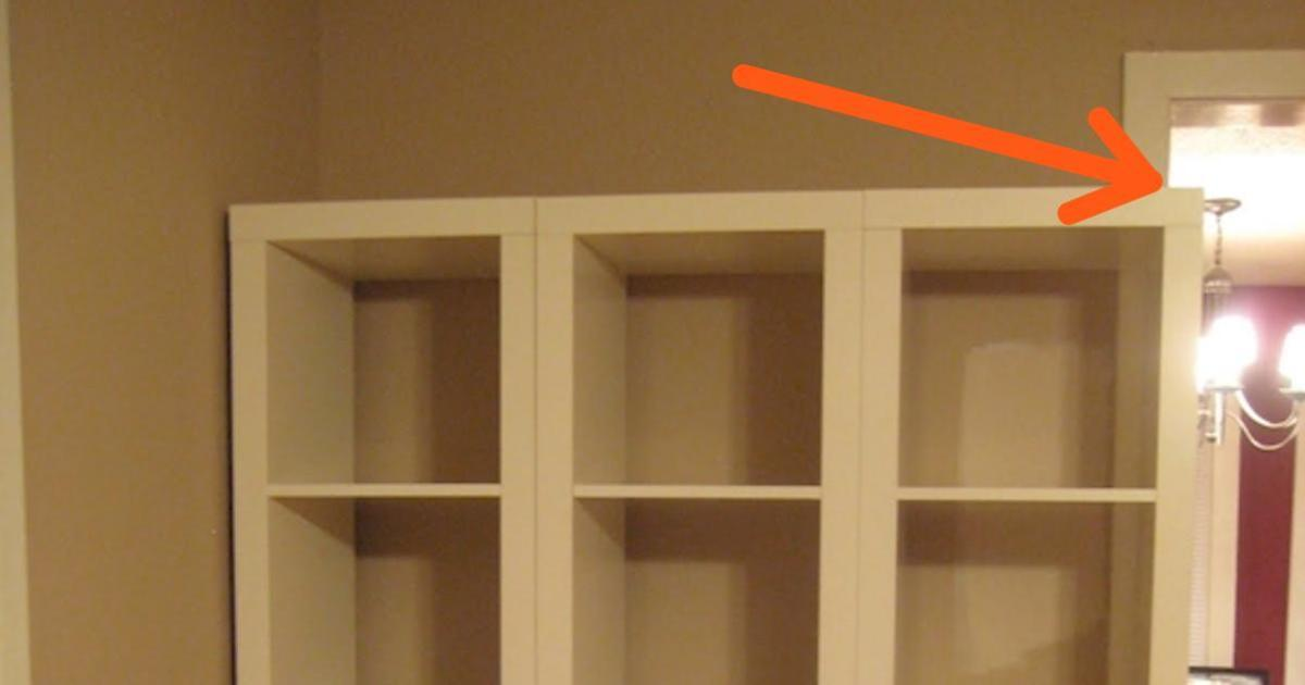 She didn't like the IKEA shelves she bought. So she turned them into something amazing with a simple and cheap trick