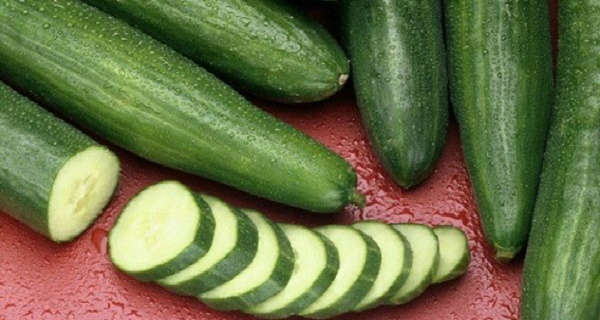 She ate one cucumber every day, and then people noticed that she had changed. That's what happened to her!