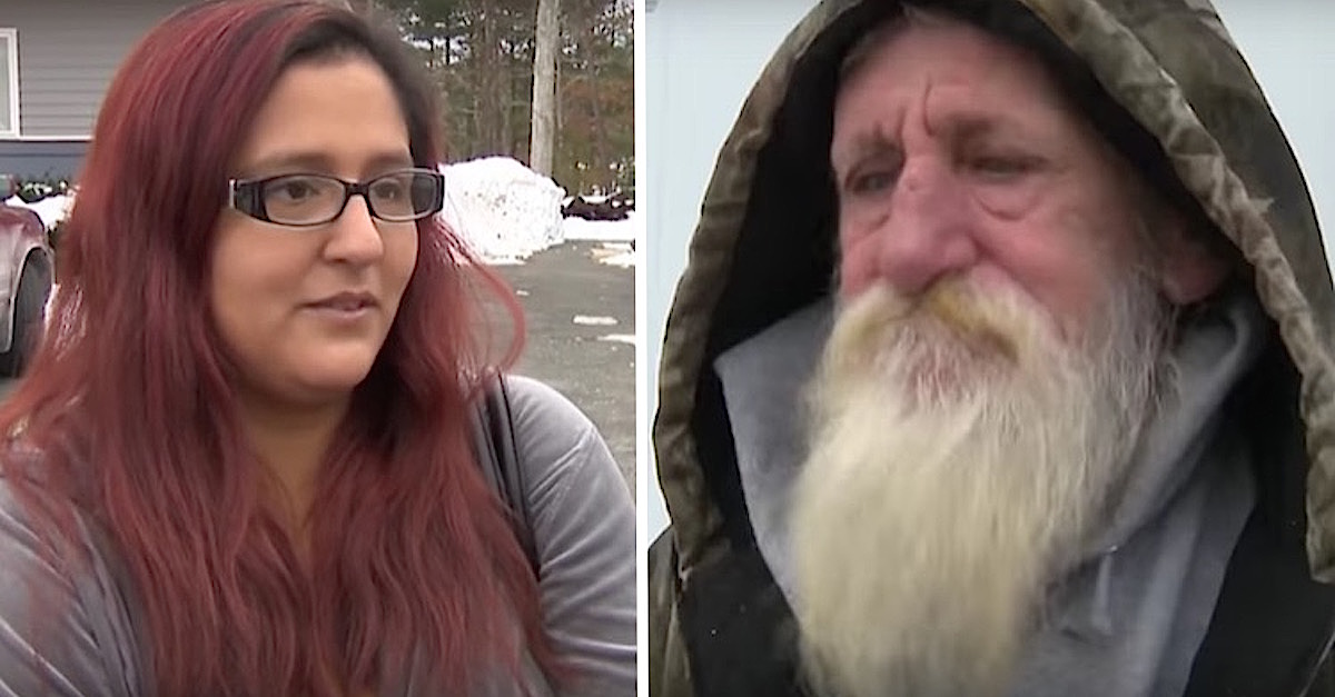 A single mom with financial problems bought a winning lottery ticket, and then told a sad homeless man to get in the car